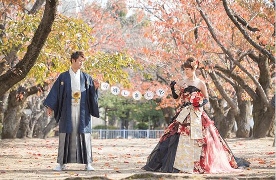 和ドレス×羽織袴の画像