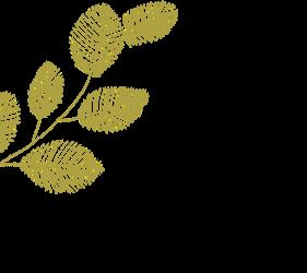 葉っぱの装飾